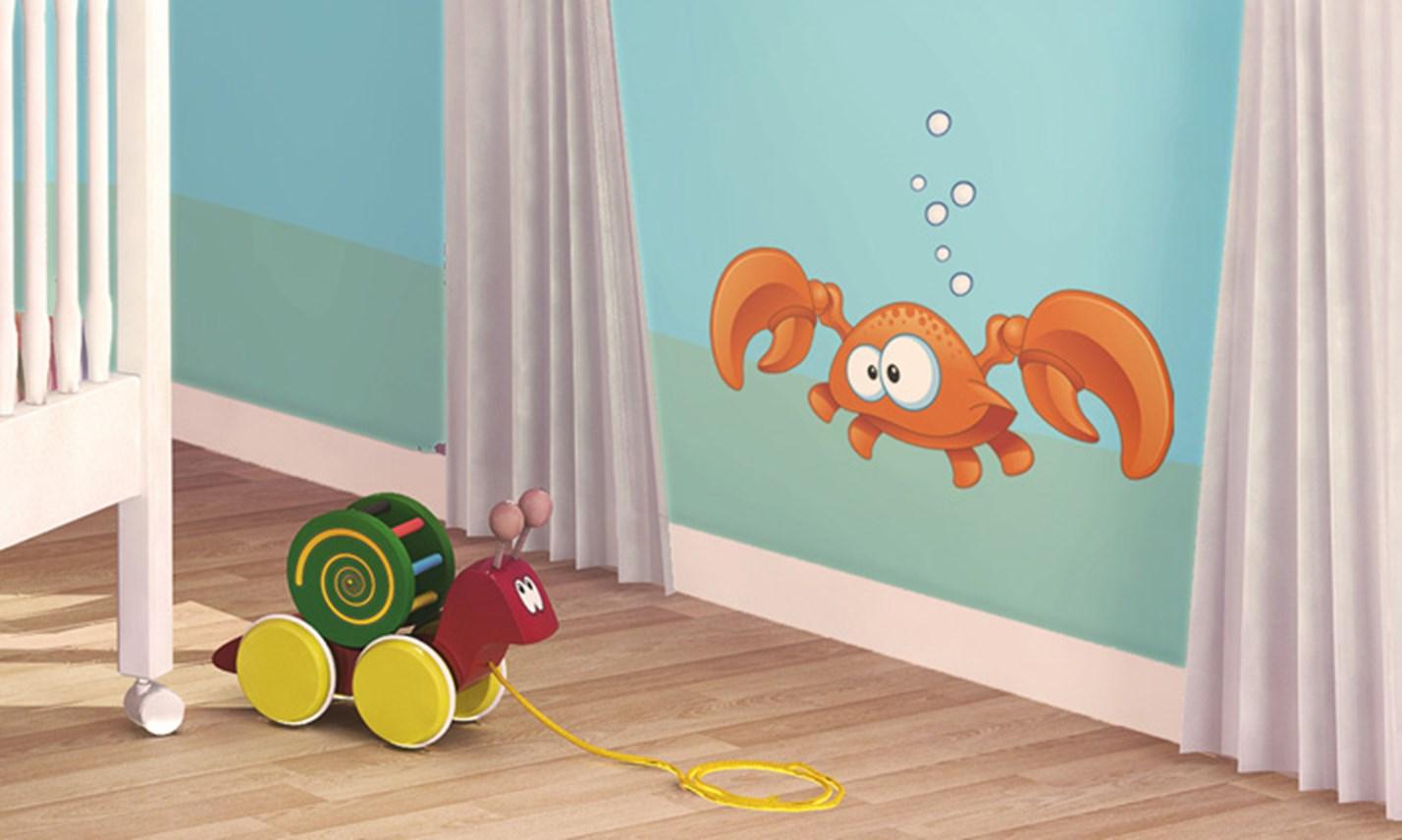 Stickers murali bambini cameretta sott 39 acqua leostickers - Adesivi per mobili bambini ...